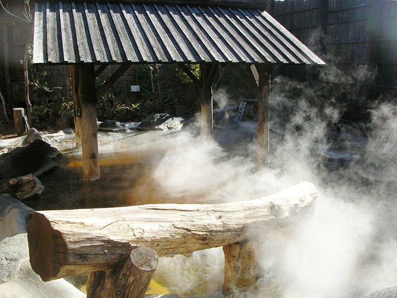 開放感抜群の露天風呂