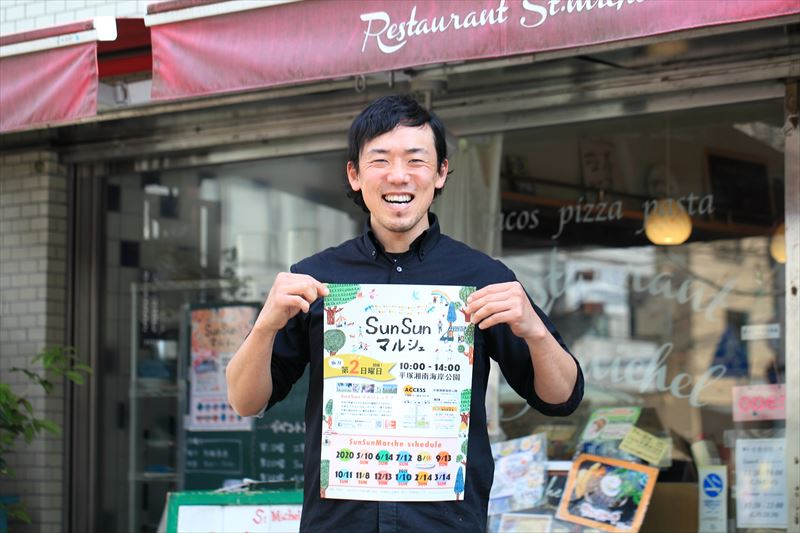 SunSunマルシェ実行委員会 代表 人気タコス店「サン・ミッシェル」の今井啓輔さん
