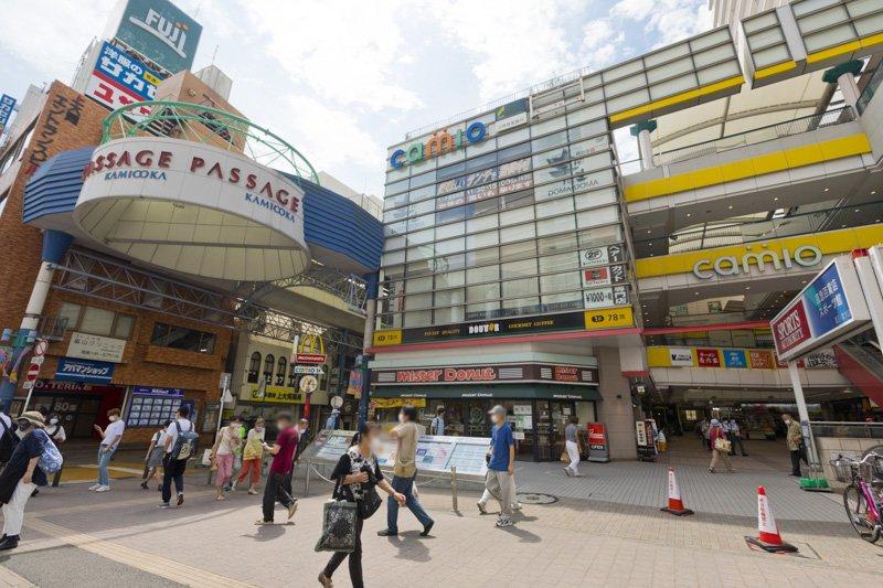 「上大岡」駅周辺ににぎわい