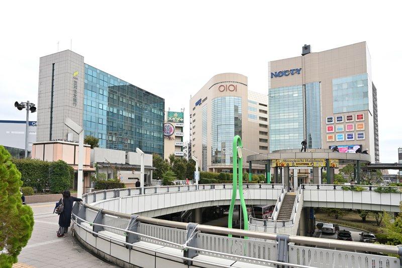 高津区の中心、「溝口」駅周辺