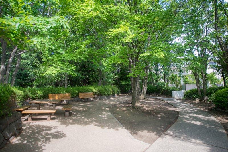 「万福寺檜山公園」の様子